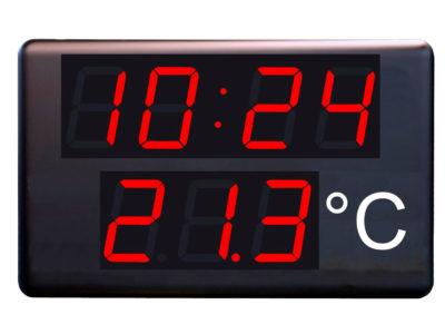 Reloj, termómetro industrial
