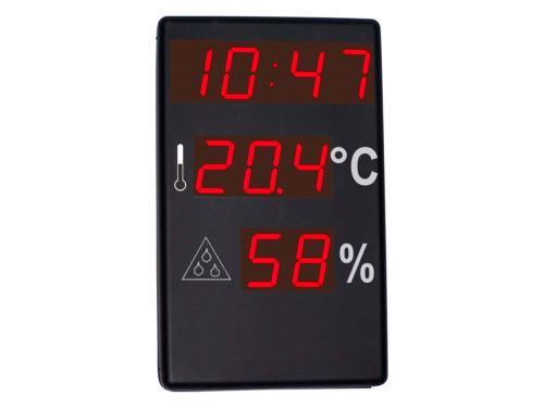 Reloj, termómetro, higrómetro
