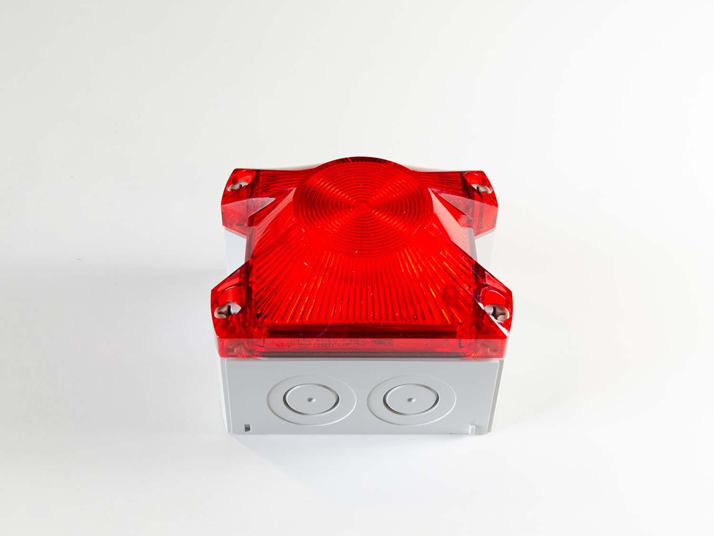 Baliza De Señalización Industrial LED Blanco / Rojo 12-48VDC