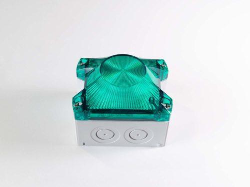 Baliza De Señalización Industrial LED Blanco / Verde 10-60VDC